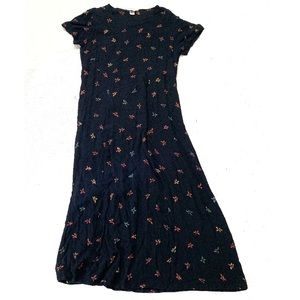Orvis floral tie back midi dress large